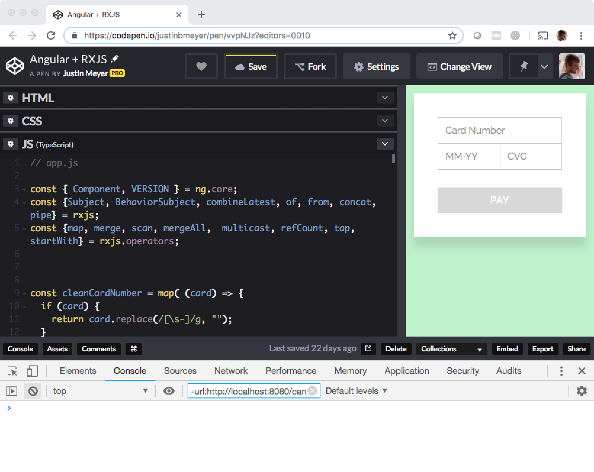 CodePen stacked